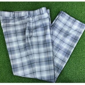 Nike Mens Grey Check Golf Straight Fit Polyester